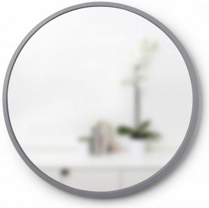 Зеркало настенное Hub Ø61 CM серое