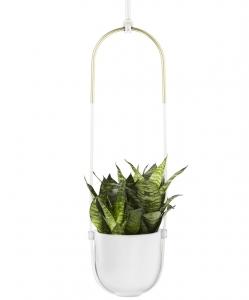 Горшок для растений подвесной 19X17X116 CM белый