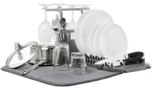 Коврик для сушки посуды Udry 61X46X27 CM тёмно-серый