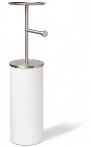Держатель-органайзер для туалетной бумаги Potaloo 17X22X64 CM белый/никель