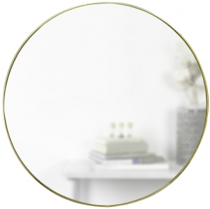 Зеркало настенное Hubba Ø86 CM медь