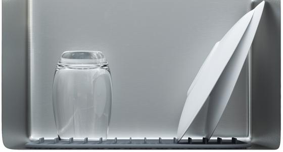 Подложка-сушилка для раковины Sling 27X29 CM серая 3
