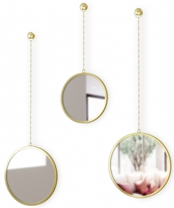 Зеркала декоративные Dima Ø18 / Ø22 / Ø22 CM латунь