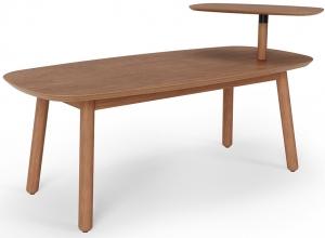 Столик кофейный Swivo 120X56X62 CM орех светлый