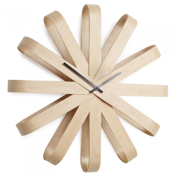 Часы настенные ribbon Ø51 CM дерево 1
