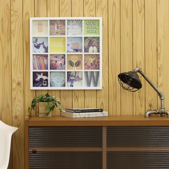 Панно для фотографий gridart белое 2