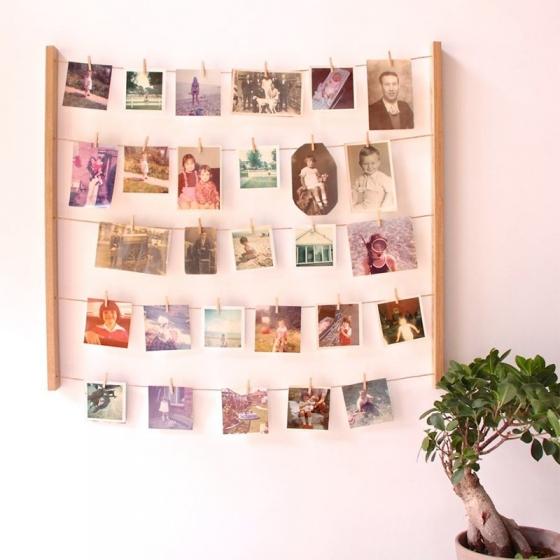 Панно с зажимами для 40 фотографий hangit дерево 2