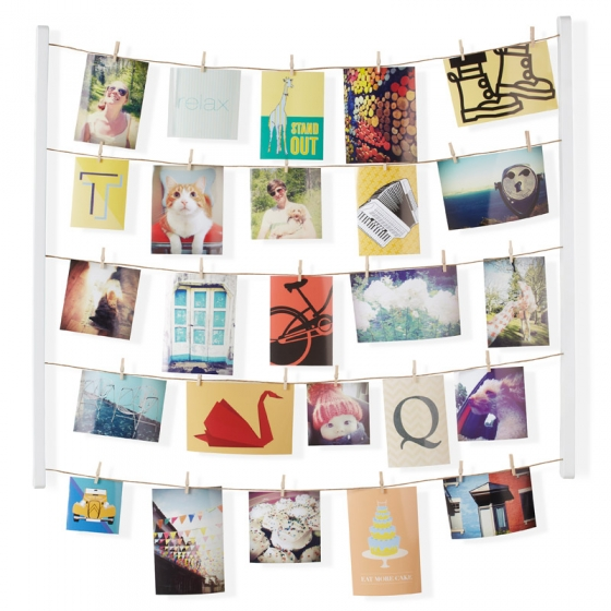 Панно с зажимами для 40 фотографий hangit белое 1