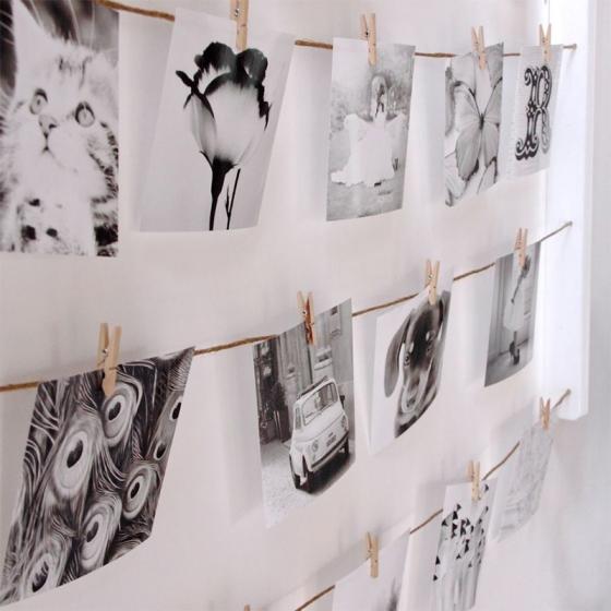 Панно с зажимами для 40 фотографий hangit белое 6