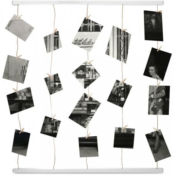 Панно с зажимами для 40 фотографий hangit белое 4
