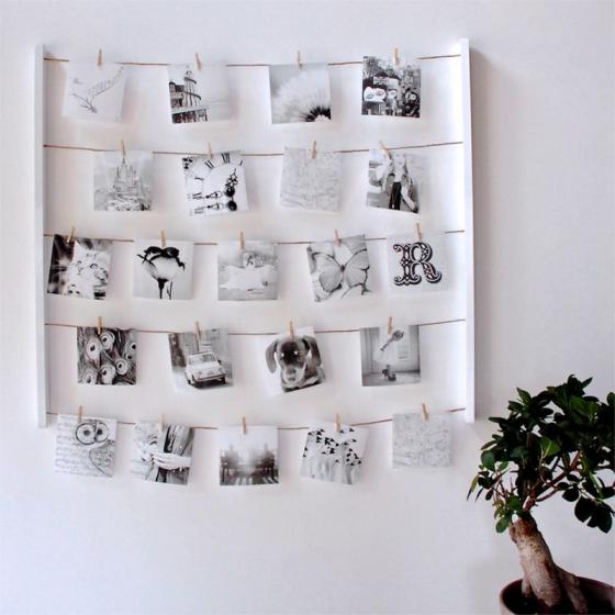 Панно с зажимами для 40 фотографий hangit белое 5