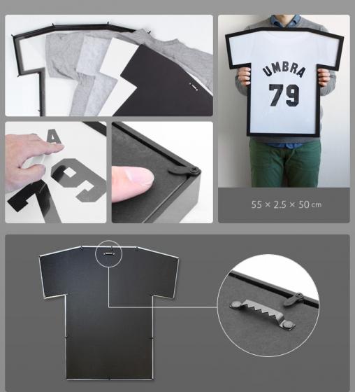 Рамка для футболки t-frame 50X54 CM чёрная 7