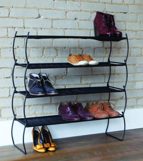 Полка для обуви imelda 81X22X23 CM черная 6