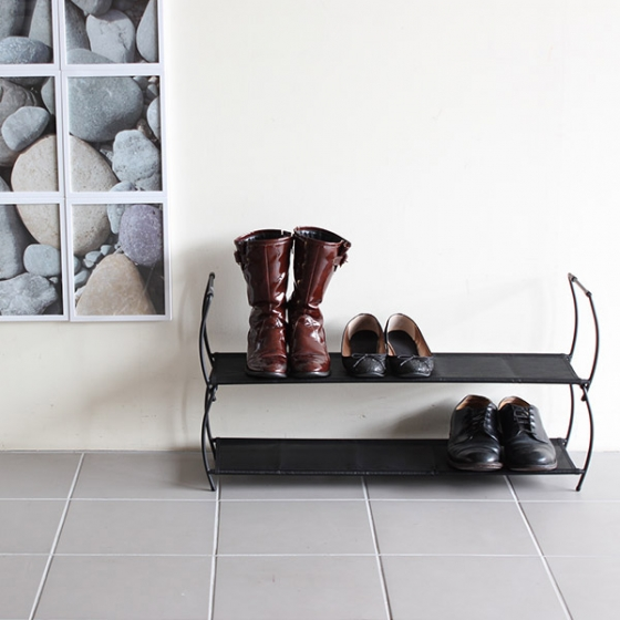 Полка для обуви imelda 81X22X23 CM черная 4