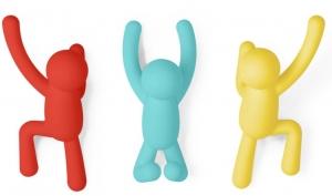 Вешалки-крючки buddy 3 шт. разноцветные яркие