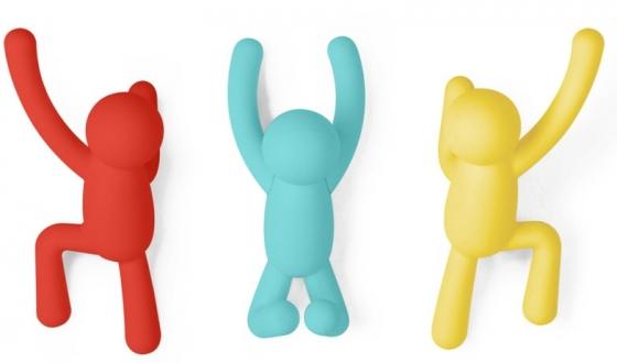 Вешалки-крючки Buddy 3 шт разноцветные яркие 1
