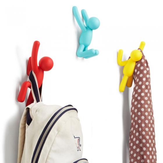 Вешалки-крючки Buddy 3 шт разноцветные яркие 3