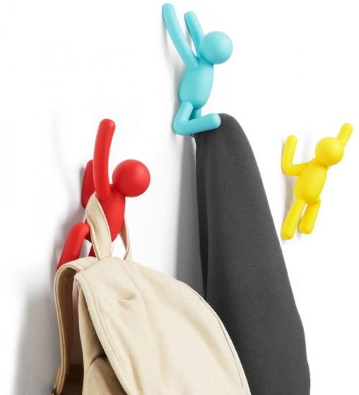 Вешалки-крючки buddy 3 шт. разноцветные яркие 2