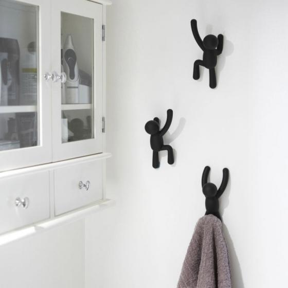 Вешалки-крючки в форме человечков  Buddy 3 шт черные 2