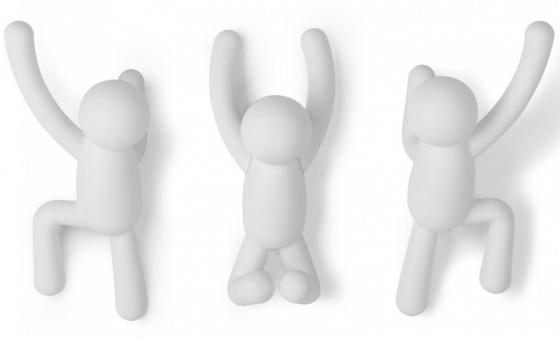 Вешалки-крючки Buddy 3 шт белые 1