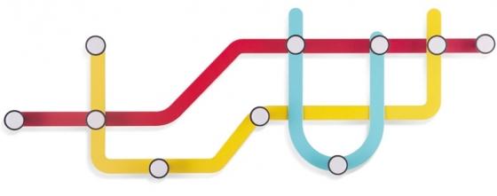 Вешалка subway 58X21 CM разноцветная 2