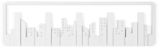 Вешалка настенная Skyline 50X15X3 CM белая 2