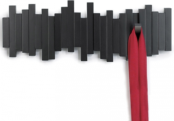 Вешалка настенная sticks 49X18 CM чёрная 2