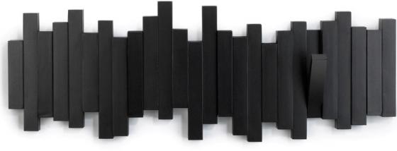 Вешалка настенная sticks 49X18 CM чёрная 3