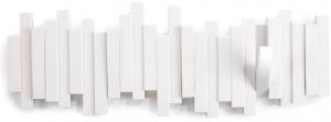 Вешалка настенная sticks 49X18 CM белая
