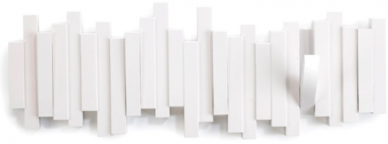 Вешалка настенная sticks 49X18 CM белая 1