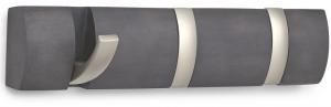 Вешалка настенная горизонтальная flip 3 крючка дерево/никель