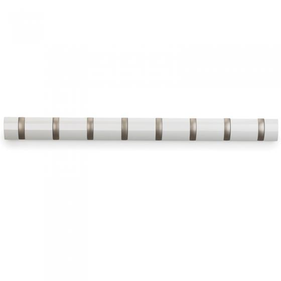 Вешалка настенная горизонтальная flip 8 крючков белая 2