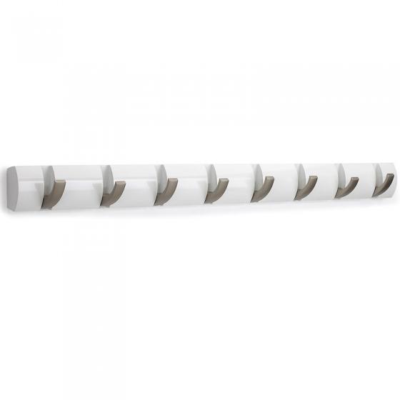 Вешалка настенная горизонтальная flip 8 крючков белая 3