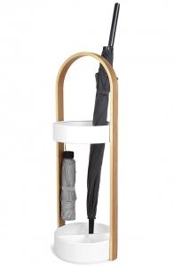 Подставка для зонтов hub 22X25X68 CM цвет белый/натуральное дерево