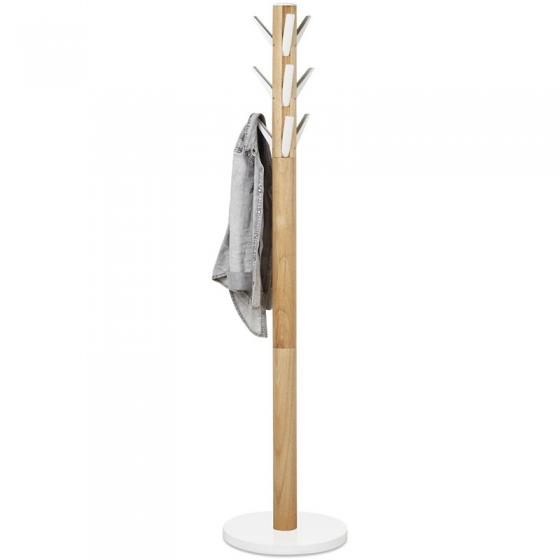 Вешалка flapper напольная 57X57X165 CM белая/дерево 1