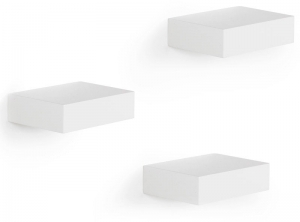 Полки настенные showcase 3 шт. белые