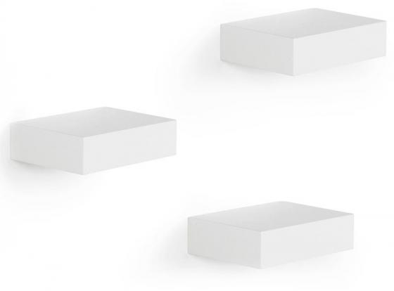 Полки настенные showcase 3 шт. белые 1