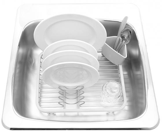 Сушилка для посуды Sinkin белый/никель 3