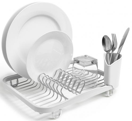 Сушилка для посуды Sinkin белый/никель 2