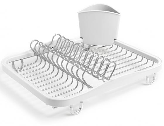 Сушилка для посуды Sinkin белый/никель 1