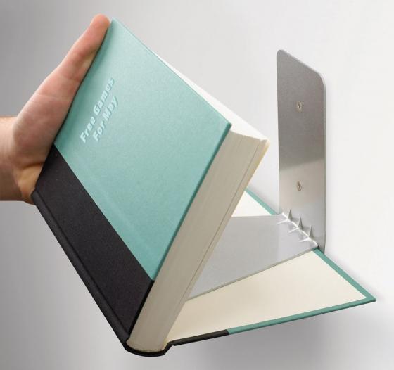 Полка книжная conceal большая сталь 2