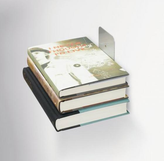 Полка книжная conceal малая серебристая 5