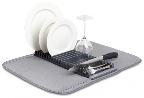 Коврик для сушки посуды Udry тёмно-серый 1