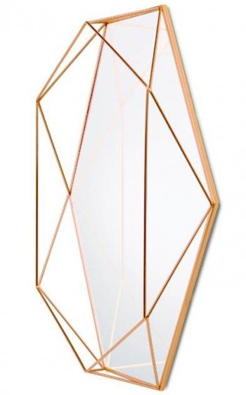Зеркало настенное prisma 43X57X9 CM медь 2