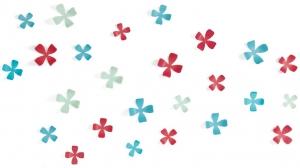 Декор для стен wallflower 25 элементов разноцветный