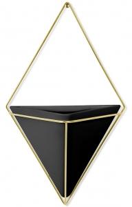 Декор для стен Trigg 11X6X19 CM черный-латунь