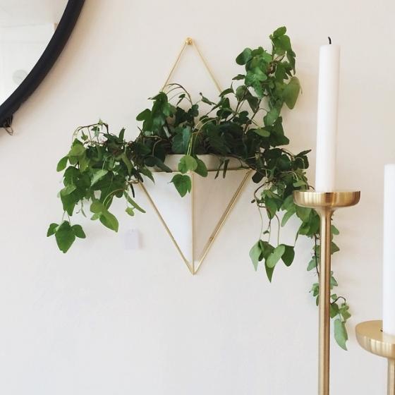 Декор для стен trigg большой белый/латунь 6