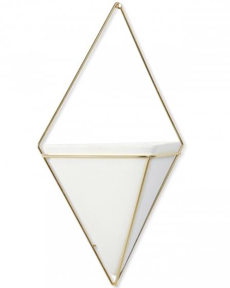 Декор для стен trigg большой белый/латунь 3