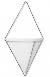 Декор для стен trigg 22X10X39 CM белый/никель