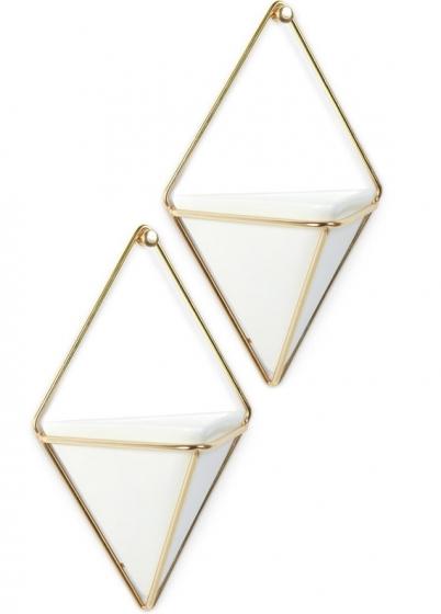 Декор для стен trigg малый белый/латунь 4